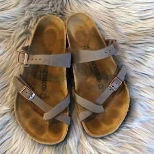 Birkenstock Mayari Birkoflor Mocha Sandals 39